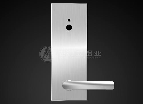 指纹锁银色铝面板